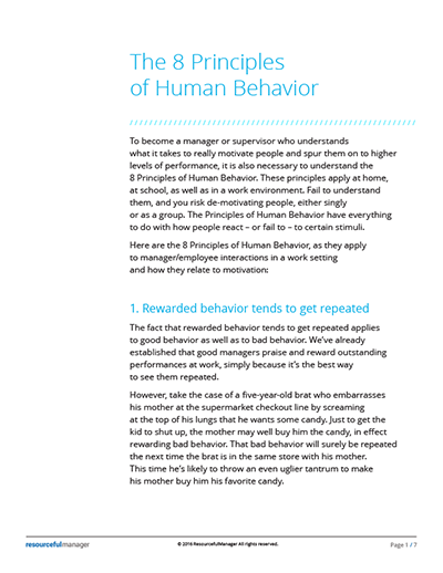 The 8 Principles of Human Behavior