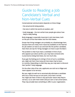 Guide to Job Candiate's Verbal and Non-Verbal Cues