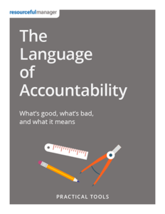 The Language of Accountability