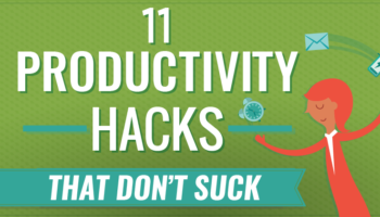 productivity hacks cover art