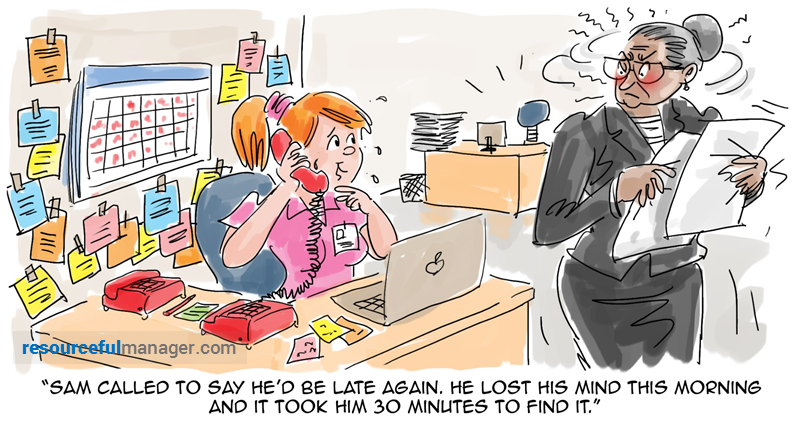Sam is late again cartoon