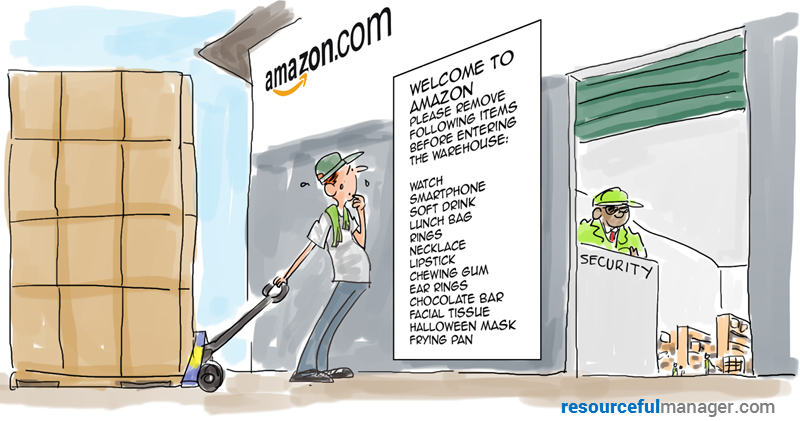 Amazon warehouse security art